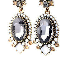 Fashion Austrian Crystal Jewelry Oval Drop Earrings Gothic Square Beads Earrings
