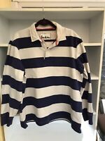 Boden Mens Dark Blue & White Striped Long Sleeved Rugby Shirt Size XXL