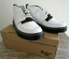 GENUINE DR MARTENS JEMIMA WHITE/BLACK TEMPERLEY CHUKKA BOOTS UK 5 EU 38 NEW