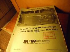 New listing John Deere Model T-24 Turbocharger & 4010 & 4020 Diesel Tractors Manual