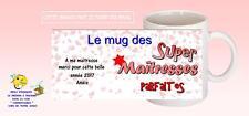 mug tasse céramique maitresse école fin d'année  personnalisé réf 230