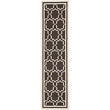 Safavieh Flat weave Wool Chocolate/ Ivory 2' 6 x 8' Runner