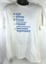 Nike Air Jordan Eat Sleep Hoop Repeat White T Shirt Basketball Mens XL