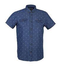 Mens Guide London HS1993 Short Sleeve Denim Shirt Size Small. Rrp £55