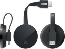 Google Chromecast Chrome Cast Ultra 4K HD HDR Streaming Media Player