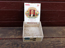 Vintage Small Webster Cigar Box with Tax Stamp Remnant