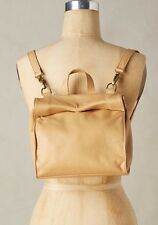 NEW $458 Marie Turnor Handbag The Deveined Convertible Mini Backpack Tan Leather