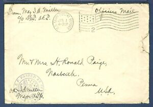 American Expeditionary Forces Officer's Mail Cover Passed Army Censor