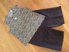 Women's 3 Pc Outfit: Lg Top; Jones NY Sz 14 Shorts; NWOT Jewelry Set. EUC!