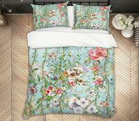 3D Rose Leaf ZHUA291 Bed Pillowcases Quilt Duvet Cover Set Queen King Zoe
