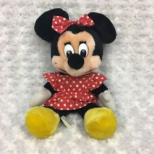 Vintage Disneyland Walt Disney World Medium Sized Sitting Minnie Mouse Plush