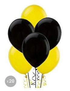 Black and yellow Balloons latex helium air quality for birthday anniversary all