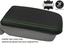 GREEN STITCH REAL LEATHER ARMREST LID COVER FITS SUBARU FORESTER SG9 2006-2008