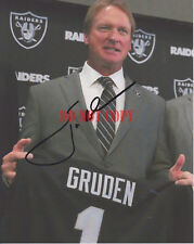 JON GRUDEN Oakland Raiders Coach Autographed 8x10 Signed Photo Reprint