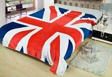"British Flag England Union Jack Coral Fleece Throw Blanket Rug Plush 59""X79"" ss"