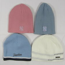 ccc764b1c30 Adults Womens Mens Knitted Beanie Knit Winter Hat Fleece New York Pink Blue  NY