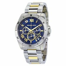 Michael Kors Brecken Men's Chronograph Watch - MK8437 Silver Gold and Blue