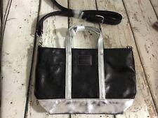 Victoria's Secret Black silver Swingpack Crossbody purse bag New