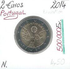 2 Euros - PORTUGAL - 2014 // Qualité: Neuve (Révolution des oeuillets)