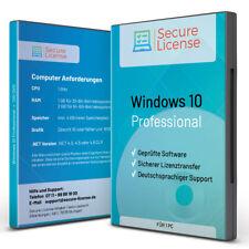 Windows 10 Professional-Dauerlizenz - DVD - 32/64Bit - Lizenzunterlagen -Support