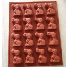 16 Cavity Dog Puppy Mould Mold Cake Gumpaste Silicone Chocolate Mooncake