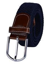 Fashion Men's Stretch Braided Elastic Woven Buckle Belt Waistband Waist Straps