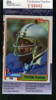 PRESTON PEARSON JSA COA Autographed 1981 TOPPS Authenticated Hand Signed