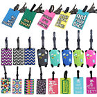 Suitcase Luggage Tags Name Address ID Holder Silicone Identifier Label Goodish