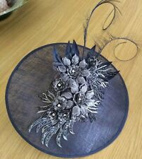 JACQUES VERT NAVY FASCINATOR WORN ONCE