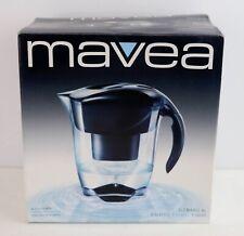 Mavea Elemaris Black XL 9-Cup Water Filtration Pitcher w/1 Filter New in Box