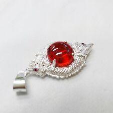 powerful pendant Naga Eye Nok Phra Gow Twist gem lucky Thai Amulet silver 925