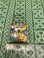 Jammin St. Thomas Reggae Dance Acrylic Vintage Keychain FREE SHIPPING
