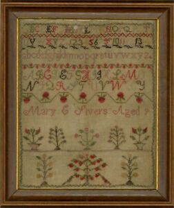 Harriet and Mary Rivers - A Pair of 1863 Embroidery Samplers