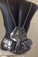 Chanel Metallic Mini Silver Anthracite Backpack New just Gorgeous and Adorable!