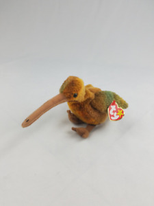 Vtg Ty Beanie Babies Beak the Kiwi plush collectible 1998