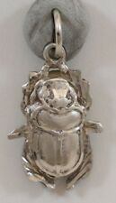 Vintage Silver Middle Eastern Arabic Egyptian Scarab Beetle Pendant 2.8g