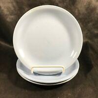Set of 3 Vintage HOMER LAUGHLIN SKYTONE Blue Restaurant Ware Bread Plates