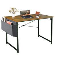 Simple Desk With Storage Bag Home Office Computer Desk Modern Laptop Table