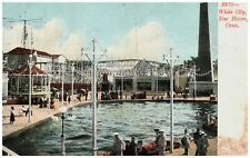 White City New Haven Conn Sailors Roller Coaster Amusement Undivided Postcard