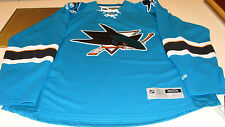 San Jose Sharks Teal Turquoise Jersey NHL Hockey Reebok NWT Adult XXL Premier