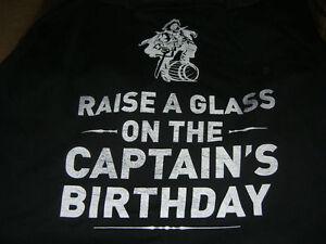CAPTAIN MORGAN MENS T SHIRT BIRTHDAY RAISE A GLASS