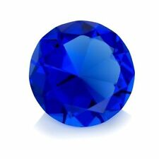 60mm Blue Crystal Diamond Shape Paperweight Glass Gem Display Ornament Gift