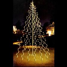 120er LED Lichterkette Fahnenmast Gartenbeleuchtung Fahnenstange 6x200cm Außen