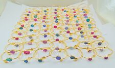 1000 GRAM 18K GOLD PLATED SUGGAR DRUZY BANGEL 100 PCS MIX ALLOY OVERLAY LOTS