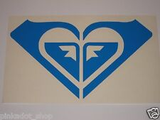 "Roxy 7 5/8"" Surf Skate Snow Board Decal Sticker Die Cut Blue"