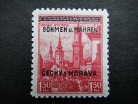 Germany Nazi 1939 Stamp MNH Tested Signed Overprint Banska Bystrica B&M WWII Thi