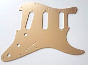 NEW PICKGUARD ANODIZED STRATOCASTER SSS - champagne - 11 trous - guitare STRAT