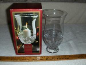 """Gorham Angels Of Piece 7 1/2"""" Hurricane Tea Light Or Candle In Box"""