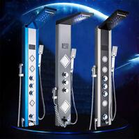 LED Edelstahl Wasserfall Duschpaneel Regendusche Badarmatur Duscharmatur System