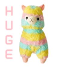 kawaii grande 50CM BIG arcobaleno multicolore alpaca TENERO Gigante Peluche